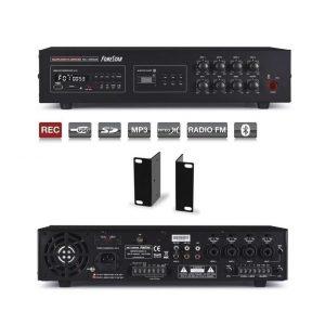 FONESTAR MA-125RGUB - Amplificador de megafonía 4 lineas 120w usb/sd/mp3/fm/bt