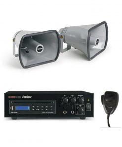 FONESTAR PEM-82 - Equipo de megafonia para vehiculos 27w 1 micro 2 altavoces
