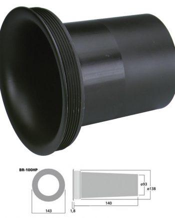 MONACOR BR-100HP - Tubo bass reflex Sv 69.4 cm2 color negro