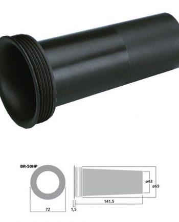 MONACOR BR-50HP - Tubo bass reflex Sv 14.6 cm2 color negro