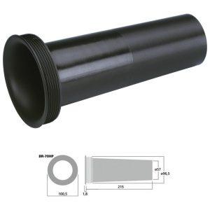 MONACOR BR-70HP - Tubo bass reflex Sv 26.4 cm2 color negro