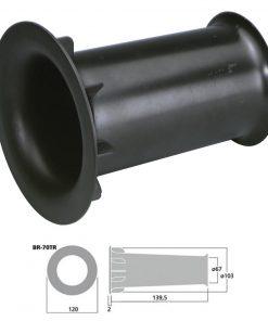 MONACOR BR-70TR - Tubo bass reflex Sv 38.4 cm2 color negro