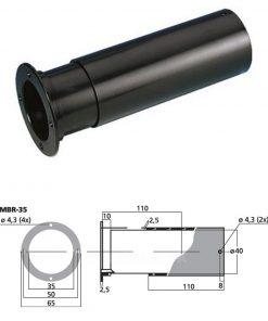 MONACOR MBR-35 - Tubo bass reflex Sv 9.6 cm2 color negro
